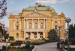 THEMENBILD - das kroatische Nationaltheater in Rijeka, aufgenommen am 13. August 2019 in Rijeka, Kroatien // the Croatian National Theatre in Rijeka, in Rijeka, Croatia on 2019/08/13. EXPA Pictures © 2019, PhotoCredit: EXPA/Stefanie Oberhauser