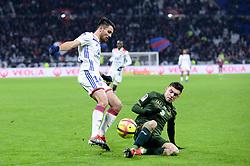 January 11, 2019 - Lyon, France - 14 LEO DUBOIS (OL) - 24 MATHIEU CAFARO  (Credit Image: © Panoramic via ZUMA Press)