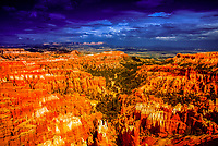 Panoramic view from Inspiration Point of Bryce Canyon National Park, Utah USA