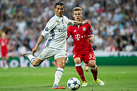 Cristiano Ronaldo of Real Madrid -in action during the match of Champions League between Real Madrid and FC Bayern Munchen at Santiago Bernabeu Stadium  in Madrid, Spain. April 18, 2017. (ALTERPHOTOS)