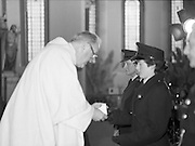 Garda Siochana Diamond Jubilee..1982.21.02,1982.02.21.1982.21st February 1982..Image of members of the force receiving Communion at the altar rail.