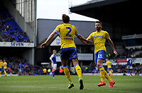 Leeds United's Luke Ayling and Stuart Dallas celebrates Mateusz Klich scoring his side's equalising goal to make the score 1-1<br /> <br /> Photographer Hannah Fountain/CameraSport<br /> <br /> The EFL Sky Bet Championship - Ipswich Town v Leeds United - Sunday 5th May 2019 - Portman Road - Ipswich<br /> <br /> World Copyright © 2019 CameraSport. All rights reserved. 43 Linden Ave. Countesthorpe. Leicester. England. LE8 5PG - Tel: +44 (0) 116 277 4147 - admin@camerasport.com - www.camerasport.com