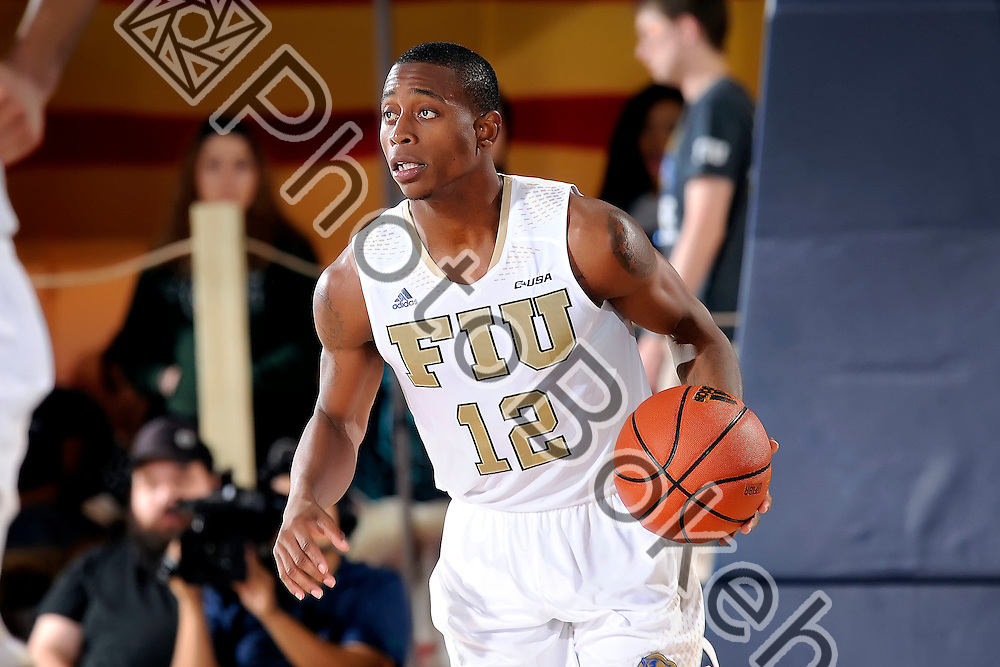 2016 January 28 - FIU's Eric Nottage (12). Florida International University fell to Charlotte, 69-72, at FIU Arena, Miami, Florida. (Photo by: Alex J. Hernandez / photobokeh.com) This image is copyright by PhotoBokeh.com and may not be reproduced or retransmitted without express written consent of PhotoBokeh.com. ©2016 PhotoBokeh.com - All Rights Reserved