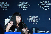 Lynette Wallworth, Artist, Studio Wallworth, Australia; Cultural Leader, speaking in the The Global Impact of Australia's Wildfires session at the World Economic Forum Annual Meeting 2020 in Davos-Klosters, Switzerland, 22 January. Congress Centre - Issue Briefing Room. Copyright by World Economic Forum/ Greg Beadle
