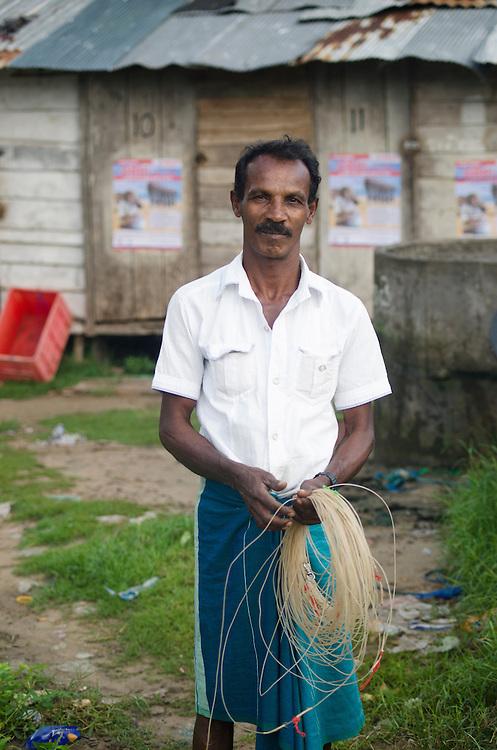 Portrait of a fisherman in Galle Fort, Sri Lanka