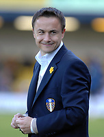 Photo: Ashley Pickering.<br />Southend United v Leeds United. Coca Cola Championship. 17/03/2007.<br />Leeds manager Dennis Wise in good spirits before the match
