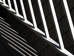 United States, Washington, Bellevue, railing and shadows