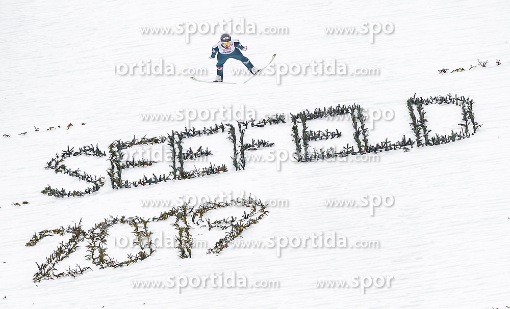 28.02.2019, Seefeld, AUT, FIS Weltmeisterschaften Ski Nordisch, Seefeld 2019, Nordische Kombination, Team Sprung, im Bild Jarl Magnus Riiber (NOR) // Jarl Magnus Riiber of Norway during the Team Jumping competition for Nordic Combined of FIS Nordic Ski World Championships 2019. Seefeld, Austria on 2019/02/28. EXPA Pictures © 2019, PhotoCredit: EXPA/ JFK