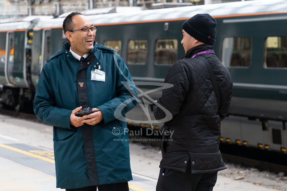 GWR and Heathrow Express PR pictures. Paddington, London, November 01 2018.