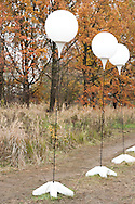 Berlin, Germany (9 November 2014). 9 November 2014 marked the 25th anniversary of the fall of the Berlin Wall, and on the preceding day some 8,000 large white illuminated balloons were placed along the course of the former Wall, to be released in the evening on 9 November. © Rudolf Abraham.