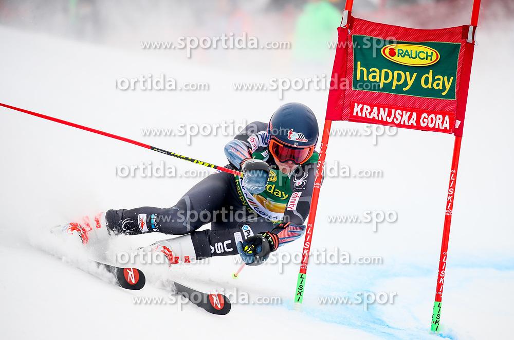 Ryan Cochran-Siegle of USA competes during 1st run of Men's GiantSlalom race of FIS Alpine Ski World Cup 57th Vitranc Cup 2018, on March 3, 2018 in Kranjska Gora, Slovenia. Photo by Ziga Zupan / Sportida
