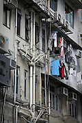 A scene in side streets of central Hong Kong