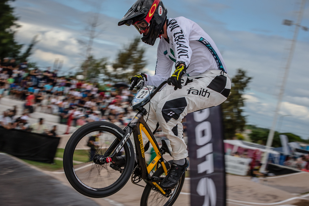 #22 (FRANKS Daniel) NZL at the 2016 UCI BMX Supercross World Cup in Santiago del Estero, Argentina