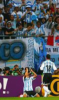 2:0 Jubel Javier Saviola, Maxi Rodriguez<br /> Fussball WM 2006 Argentinien - Elfenbeinkueste <br /> Argentina - Elfenbenskysten<br /> Norway only