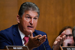 July 25, 2018 - Washington, DC, U.S. - Sen. JOE MANCHIN, D-WV, speaks as Congress' Joint Select Committee on the Solvency of Multiemployer Pension Plans holds its fifth public hearing. The Congress is struggling to deal with the danger that by some estimates as many as 100 pension plans around the country are on the brink of failure, which would reduce or eliminate the pensions of about 1.3 million workers and retirees. (Credit Image: © Jay Mallin via ZUMA Wire)