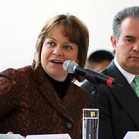 México, D.F.- Martha Delgado Peralta, Secretaria del Medio Ambiento del Gobierno del Distrito Federal durante el inicio del  Programa  ProAire 2011-2020 para mejorar la calidad del aire en la zona Metropolitana del Valle de México,  que tendrá un costo de más de 54 mil millones de pesos. Agencia MVT / José Hernández. (DIGITAL)