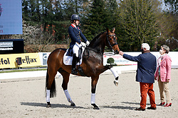 HAGEN a.T.W. - Horses and Dreams meets Japan Sports Edition 2021<br /> <br /> DUJARDIN Charlotte (GBR), Mount St John Freestyle<br /> Siegerehrung<br /> CDI 4* Grand Prix<br /> Qualifikation für Grand Prix Special<br /> Preis des Gestütes Vorwerk<br /> <br /> Hagen a.T.W., Hof Kasselmann<br /> 23. April 2021<br /> © www.sportfotos-lafrentz.de/Stefan Lafrentz