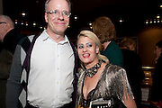 HANS ULRICH OBRIST; PEACHES, Tilda Swinton / Pringle Dinner at the Webster,  Miami Beach. 3 December 2010. -DO NOT ARCHIVE-© Copyright Photograph by Dafydd Jones. 248 Clapham Rd. London SW9 0PZ. Tel 0207 820 0771. www.dafjones.com.