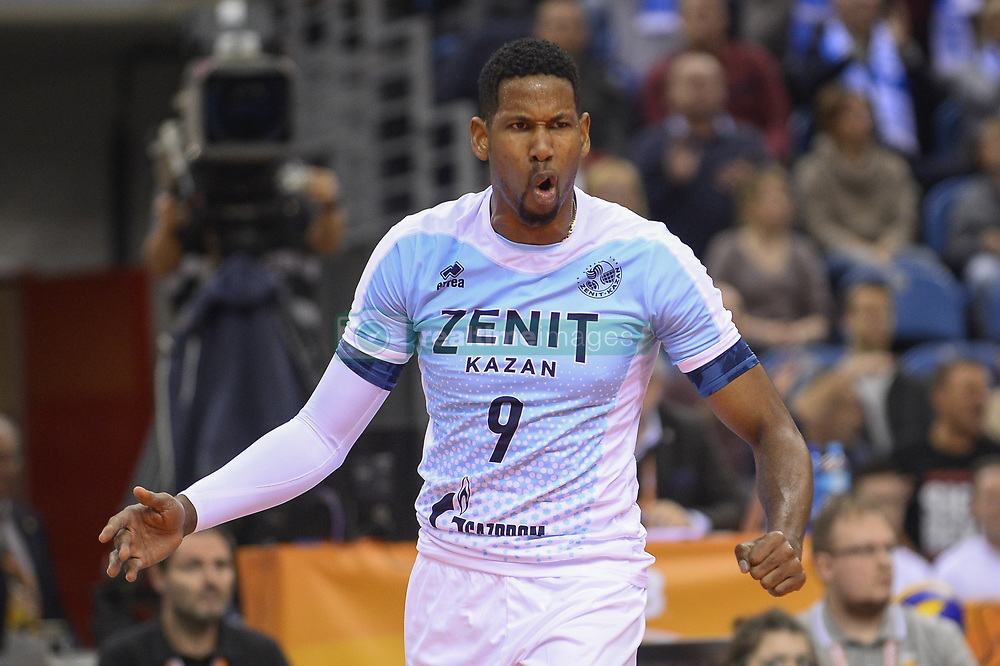 December 16, 2017 - Krakow, Poland - Wilfredo Leon Venero  (9) of VC Zenit Kazan in action during the match between Sada Cruzeiro Volei and VC Zenit kazan during the semi finals of Volleyball Men's Club World Championship 2017 in Tauron Arena. (Credit Image: © Omar Marques/SOPA via ZUMA Wire)