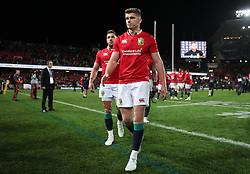 British and Irish Lions' Owen Farrell after the third test of the 2017 British and Irish Lions tour is drawn at Eden Park, Auckland. PRESS ASSOCIATION Photo. Picture date: Saturday July 8, 2017. See PA story RUGBYU Lions. Photo credit should read: David Davies/PA Wire. RESTRICTIONS: Editorial use only. No commercial use or obscuring of sponsor logos. Editorial use only. No commercial use or obscuring of sponsor logos.