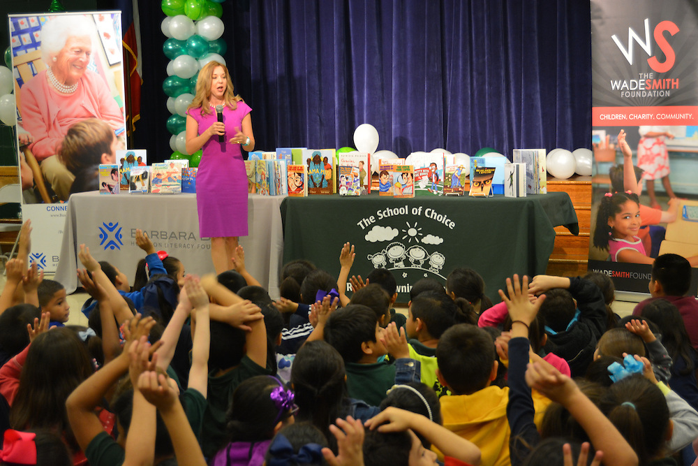A new initiative of the Barbara Bush Houston Literacy Foundation called My Home Library kicked off Jan. 17, 2017, at Browning ES. Bush Foundation President Julie Baker Finck spoke to students about the pleasures of reading.