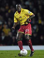 Photo: Jonathan Butler.<br />Watford v Stockport County. The FA Cup. 06/01/2007.<br />Toumani Diagouraga of Watford