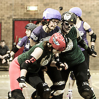 """2014-01-25: Manchester Roller Derby """"Furies"""" vs. Rainy City Roller Girls """"Bet Lynch Mob"""""""
