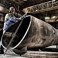 TATA Steel Hartlepool - profiling machine on windturbine construction