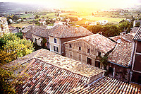 Provence, France..tiled rooves of Bonnieux, in the Luberon...Photo by Owen Franken