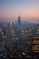 Night view from Top of the Rock, 30 Rockefeller Plaza in New York City October 2008