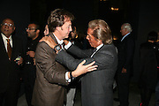 SIR PAUL MCCARTNEY AND VALENTINO, Dinner given by Established and Sons to celebrate Elevating Design.  P3 Space. University of Westminster, 35 Marylebone Rd. London NW1. -DO NOT ARCHIVE-© Copyright Photograph by Dafydd Jones. 248 Clapham Rd. London SW9 0PZ. Tel 0207 820 0771. www.dafjones.com.