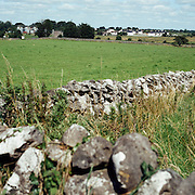 """Fields near Athenry. County Galway, Ireland, the setting for one of Ireland's most famous songs  """"The Fields of Athenry""""  an Irish folk ballad set during the Great Irish Famine. Athenry, Galway. Ireland. 23rd July 2011. Photo Tim Clayton"""
