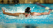 PRICE CHAMBERS / NEWS&GUIDE.Jackson sophmore Becca Hamilton swims to a second place finish in the 100-yard butterfly during the Jackson-Lander dual meet on Friday at the rec center. Read about several pool records Jackson swimmers and divers set in this week's News&Guide.
