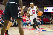 DALLAS, TX - JANUARY 04:  Ben Emelogu II #21 of the SMU Mustangs drives to the basket against the Temple Owls during a basketball game on January 4, 2017 at Moody Coliseum in Dallas, Texas.  (Photo by Cooper Neill/Getty Images) *** Local Caption *** Ben Emelogu II