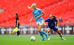 Esme Morgan of Manchester City Women under pressure from Guro Reiten of Chelsea Women- Mandatory by-line: Nizaam Jones/JMP - 29/08/2020 - FOOTBALL - Wembley Stadium - London, England - Chelsea v Manchester City - FA Women's Community Shield