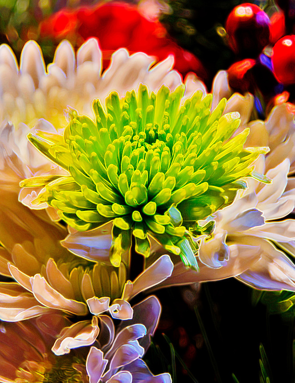 Rendered floral capture from a spring flower assortment