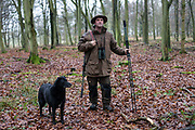 Chef and restauranteur Mike Robinson deer hunting near his pub and restaurant, the Potkiln in Berkshire, UK