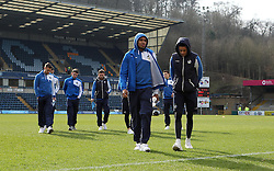 Bristol Rovers players inspect the pitch at Wycombe Wanderers - Mandatory byline: Robbie Stephenson/JMP - 27/02/2016 - FOOTBALL - Adams Park - Wycombe, England - Wycombe Wanderers v Bristol Rovers - Sky Bet League Two