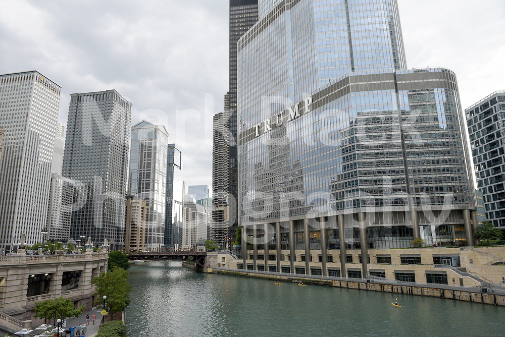 Trump Tower along the Chicago River in Chicago, Illinois. Photo by Mark Black