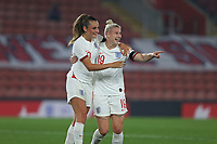 Football - 2021/ 2022  - Women's World Cup UEFA Qualifer - England Women vs. North Macedonia - St Mary's Stadium - Friday 17th September<br /> <br /> Englands Bethany England celebrates scoring with Englands Ella Toone at St Mary's Stadium Southampton England<br /> <br /> COLORSPORT/Shaun Boggust