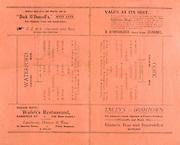 "Munster Senior Hurling Final Replay at Clonmel, .30081930MSHFR,..30.08.1930, 08.30.1930, 30th August 1930,.Cork v Waterford,..Waterford,.Jas Ware, J Ryan. C Ware, J Fanning, R Power, J Ware, F McCormack, D Shortall, P Brown, N Fardey, D Wyse, J Power, M Wyse, L Byrne, J Butler. Subs 16 E Carroll, 17 J Hunt, 18 P Hannigan, 19 T Greaney, 20 J Condron, 21 N Condon, 22  Fardey, 23 Patrick Kehoe, 24 Ml Curley, 25 T Lyons..Cork,.J Coughlan, M Madden, E O'Connell, P Collins, D B Murphy, J O'Regan, T Barry, J Hurley, M O'Connell, E Coughlan, M Ahearne, P O'Grady, P Delea, P Ahearne, W Clancy. Subs, 16 Ptrick O'Donoghue, 17 Jos Donovan, 18 John Kenneally, 19 Sean Sullivan, 20 George Garrett, 21 John O'Sullivan, 22 William Stanton, 23 Michael Leahy, ..Walsh's Restaurant Sarsfield Street,..Lacey's Irishtown, dinners teas and sandwiches,..""Dick O'Donnell's"" West Gate,..D O'Donoghue General Draper, Clonmel,"