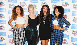 © Licensed to London News Pictures. 12/10/2013, UK. 5 Jade Thirlwall; Perrie Edwards; Jesy Nelson; Leigh-Anne Pinnock; Little Mix, Girlguiding BIG GIG, Wembley Arena, London UK, 12 October 2013. Photo credit : Richard Goldschmidt/Piqtured/LNP