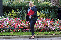 Downing Street, London, October 18th 2016. Secretary of State for Culture, Media and Sport Karen Bradley arrives at the weekly cabinet meeting at 10 Downing Street in London.
