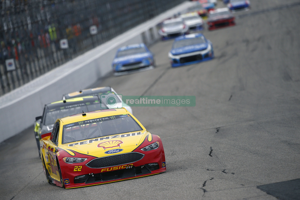 July 22, 2018 - Loudon, New Hampshire, United States of America - Joey Logano (22) battles for position during the Foxwoods Resort Casino 301 at New Hampshire Motor Speedway in Loudon, New Hampshire. (Credit Image: © Justin R. Noe Asp Inc/ASP via ZUMA Wire)