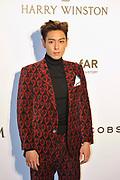 HONG KONG - MARCH 14: Singer T.O.P. arrives on the red carpet during the 2015 amfAR Hong Kong gala at Shaw Studios on March 14, 2015 in Hong Kong. Photo : Lucas Schifres/Abaca  (Photo by Lucas Schifres/Lucas Schifres)