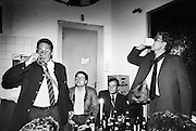 Nederland, Nijmegen, 15-5-1989Studenten, leden van het corps, hebben een gezellige dag met een ander corps. Er wordt flink bier gedronken. Foto: Flip Franssen/Hollandse Hoogte