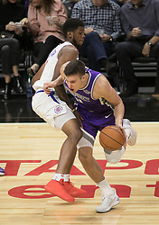 October 12, 2017 - Los Angeles, California, U.S - Bogdan Bogdanovic #8 of the Sacramento Kings drives with the ball during their preseason game against the Los Angeles Clippers on Thursday October 12, 2017 at the Galen Center in USC in Los Angeles, California. Clippers defeat Kings, 104-87. (Credit Image: © Prensa Internacional via ZUMA Wire)