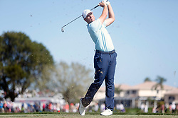February 25, 2018 - Palm Beach Gardens, Florida, U.S. - Luke List tees off the fifth hole during the final round of the 2018 Honda Classic at PGA National Resort and Spa in Palm Beach Gardens, Fla., on Sunday, February 25, 2018. (Credit Image: © Andres Leiva/The Palm Beach Post via ZUMA Wire)