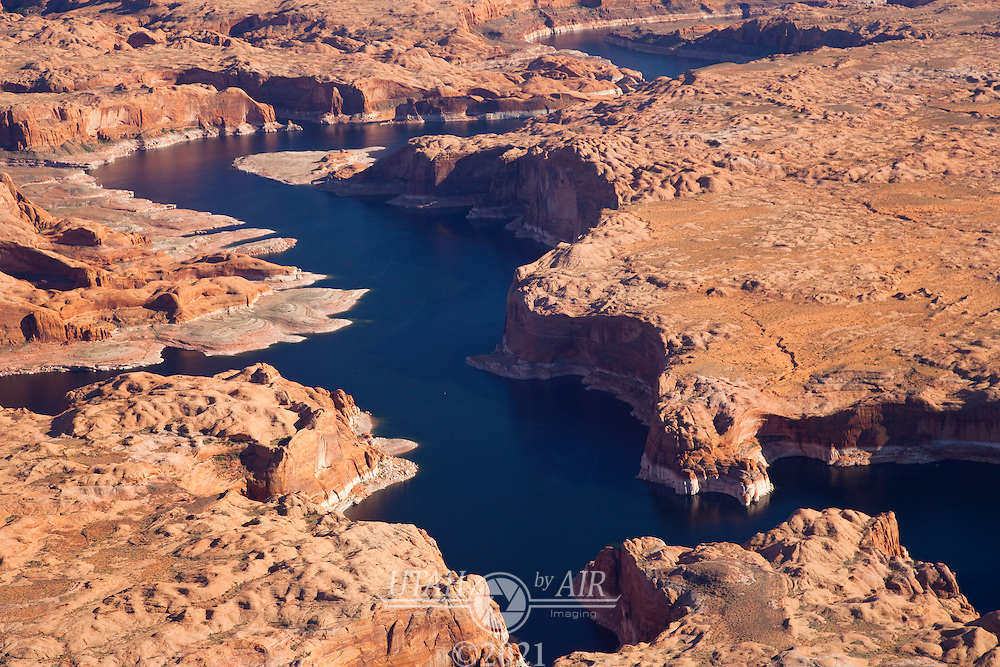 Escalante Canyon on the right joining the main channel  at Lake Powell