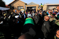 South Africa - Johannesburg   28 July 2020  The remains of the ANC Veteran and last Rivonia trialist Dr Andrew Mlangeni arrived at his home in Dube Soweto this afternoon, he  died last Tuesday after a short ilness at the Pretoria military hospital. Photo Simphiwe Mbokazi African News Agency (ANA)